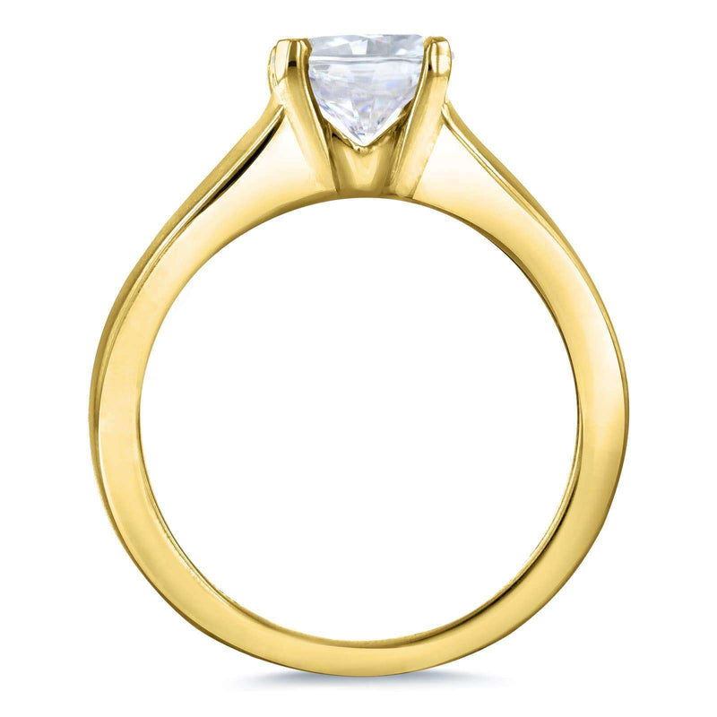 Kobelli Diamond Classic Solitaire Ring 1 Carat in 14k Yellow Gold
