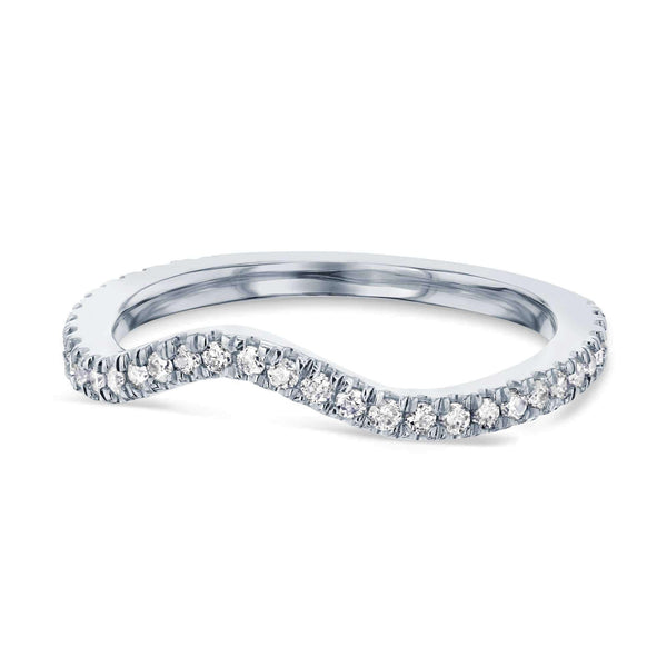 Kobelli Curved Diamond Wedding Band - 62111 Series 62111D/4.5W
