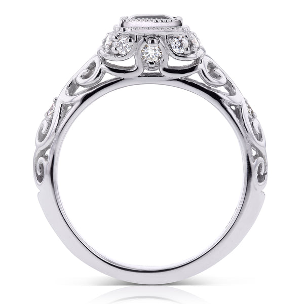 Vintage Diamond Ring 3/4 CTW in 14k White Gold