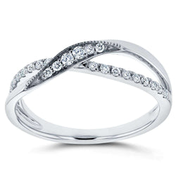 Kobelli Diamond Fashion Ring 1/5 carat (ctw) in 10K White Gold