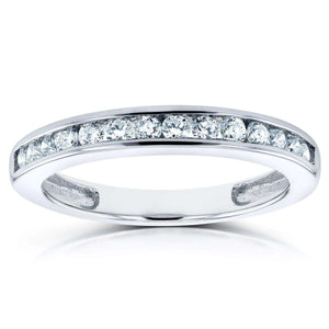 Kobelli Channel Diamond Band 1/4 CTW in 14K White Gold