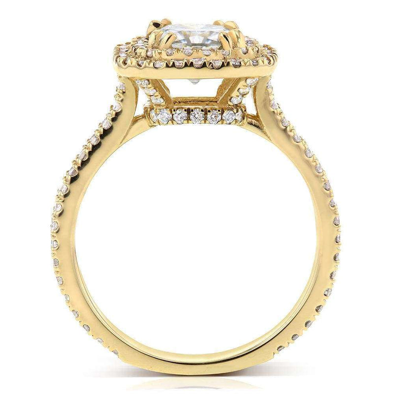 Kobelli Double Halo Diamond Engagement Ring 1 3/4 CTW in 14k Yellow Gold