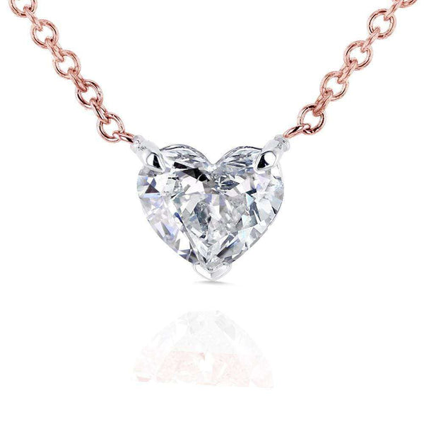 Kobelli Floating Heart Diamond Necklace 1/2 CTW in 14K Gold (Certified) 62182-R