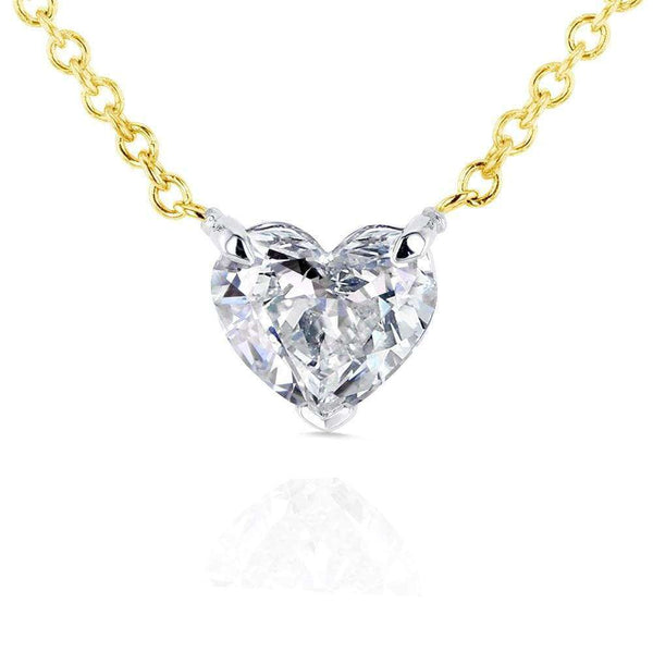 Kobelli Floating Heart Diamond Necklace 1/2 CTW in 14K Gold (Certified) 62182-Y
