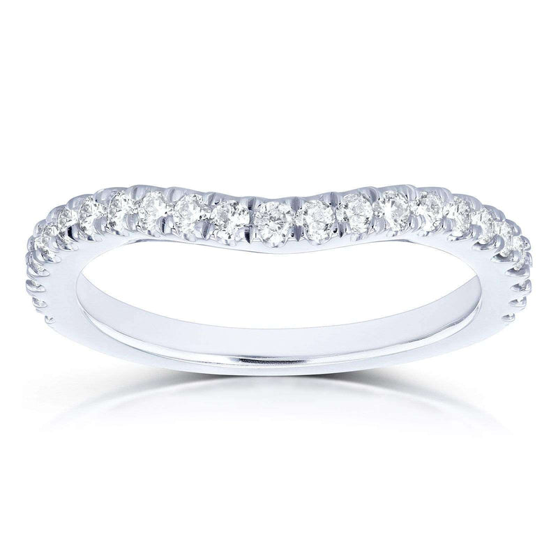 Kobelli Diamond Curved Wedding Band 1/3 CTW in 14k White Gold