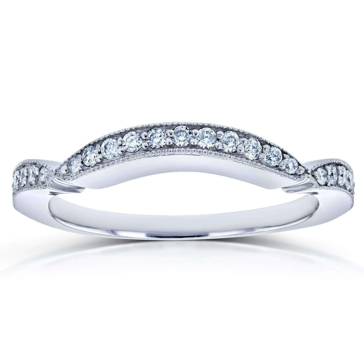 Compare Diamond Contour Wedding Band 1/5 Carat TDW in 14k White Gold (for 62198 series) - 7