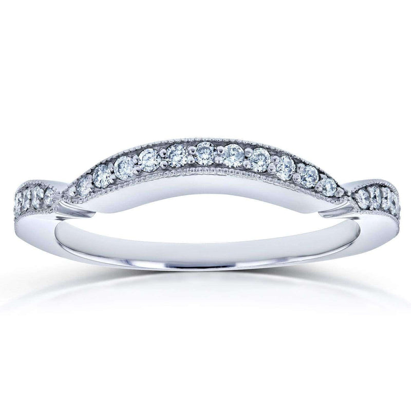 Kobelli Diamond Contour Wedding Band 1/5 Carat TDW in 14k White Gold (for 62198 series)