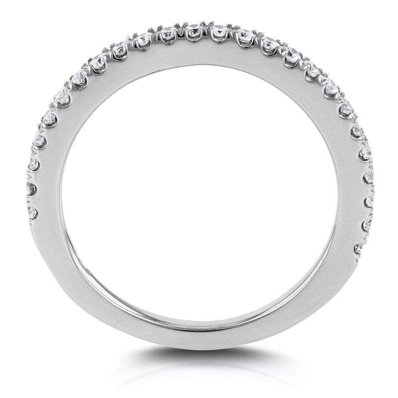 Kobelli Straight Split-Prong Wedding Band 1/4 CTW in 14K White Gold