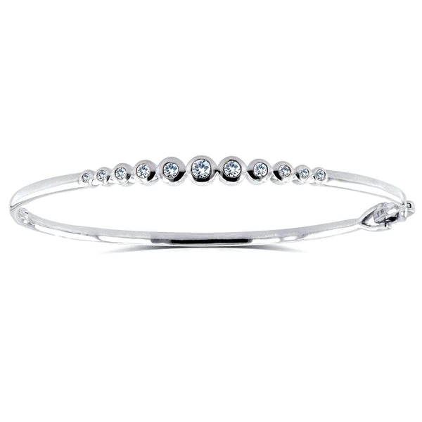 Bezel Diamond Bangle