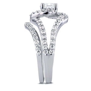 Round Diamond Swirl Bridal Set 1 7/8 CTW in 14k White Gold