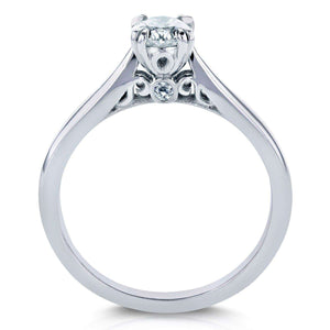 Diamond Vintage Engagement Ring 1/2 CTW in 14k White Gold