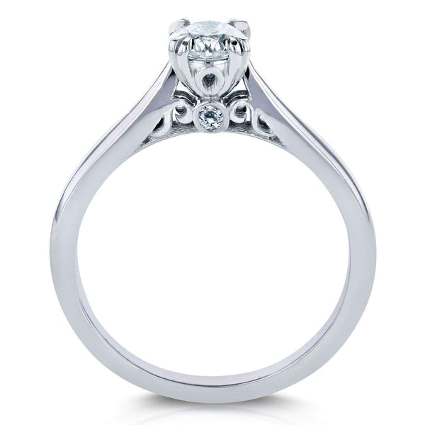 Kobelli Diamond Vintage Engagement Ring 1/2 CTW in 14k White Gold