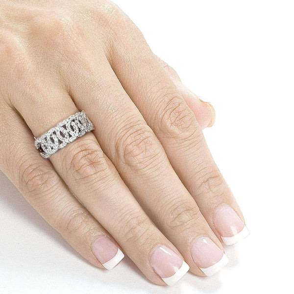 Kobelli Interlocking Circles Diamond Band 1/2 CTW in 14K White Gold