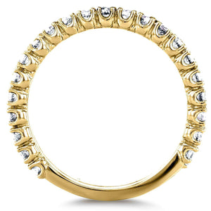 Kobelli Diamond Round Split Prong Wedding Band 1/2 CTW in 14k Yellow Gold