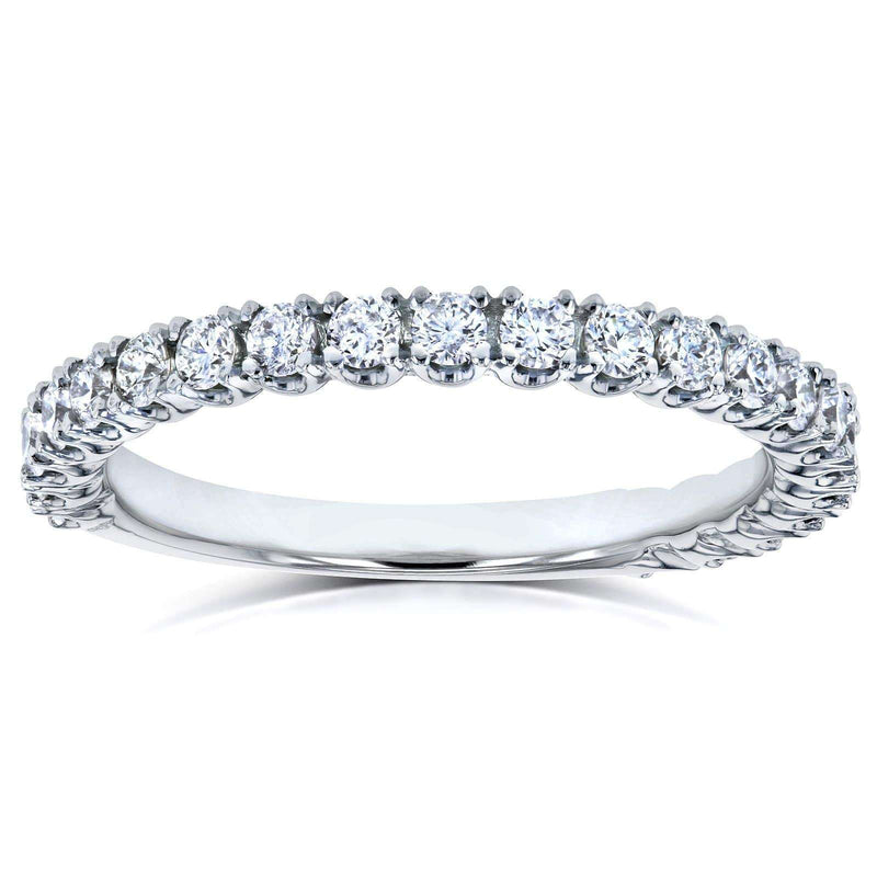 Kobelli Diamond Round Split Prong Wedding Band 1/2 CTW in 14k White Gold