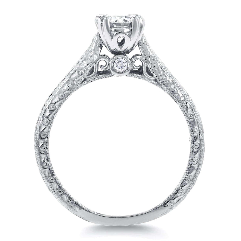 Kobelli Round-cut Diamond Vintage Engagement Ring 1/2 Carat (ctw) in 14k White Gold