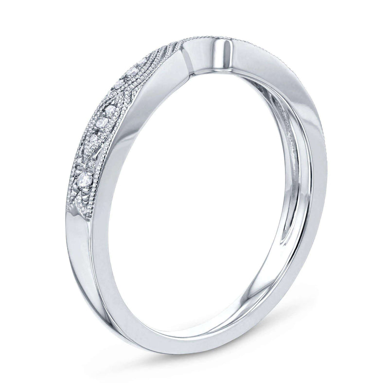 Kobelli Curved Diamond Wedding Band - 62261 Series