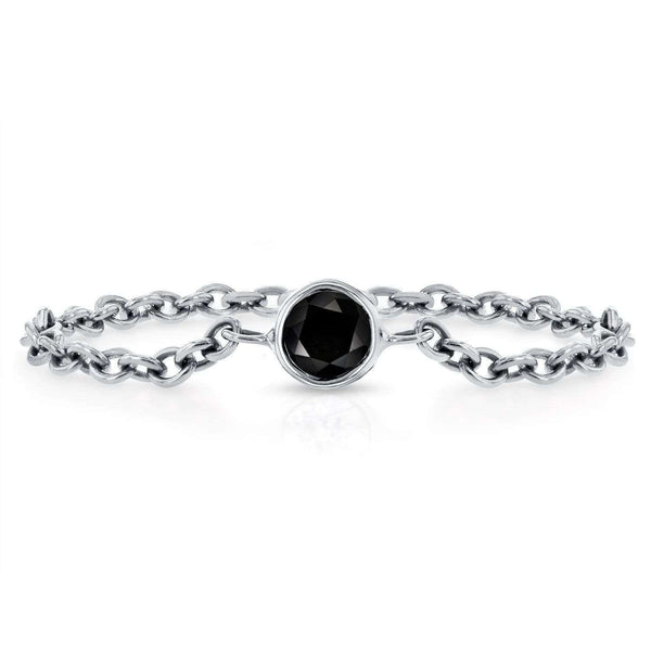 Kobelli Black Diamond Chain Ring 1/10 CTW in 14k White Gold