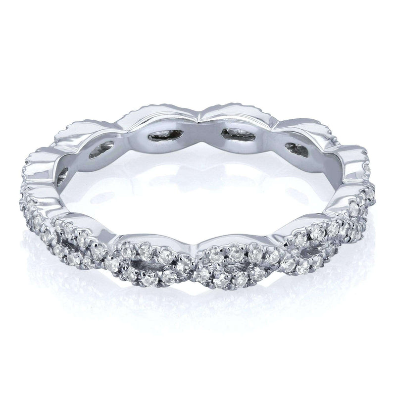 Kobelli Diamond Braided Eternity Wedding Ring 1/3ct TDW in 10k White Gold