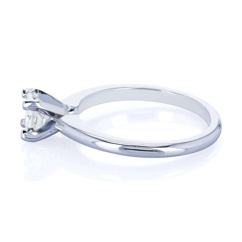 Kobelli Solitaire Princess Cut 1/2 Carat Diamond Engagement Ring in 14k White Gold