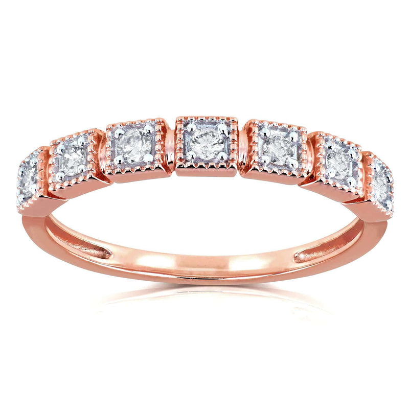 Kobelli Diamond Wedding Ring 1/6ct TDW in 10k Rose Gold
