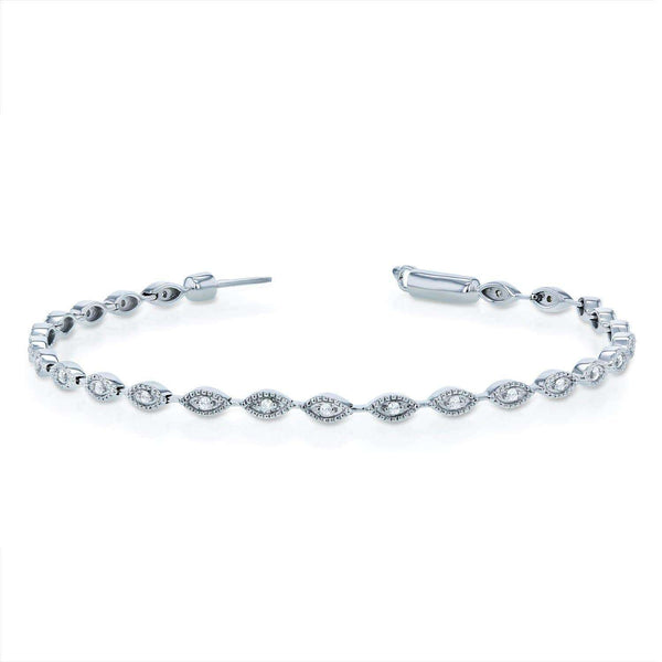 Kobelli Diamond Bracelet 1/4ct TDW in 10k White Gold - 7 inch 62359