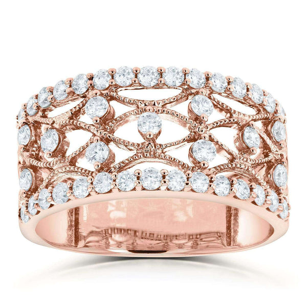 Kobelli Diamond Anniversary Band 3/5ct TDW in 10k Rose Gold