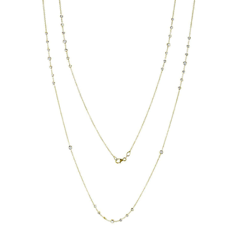 Kobelli Diamond 30 Inch Station Necklace 1 1/2 CTW 14k Yellow Gold 62383-Y