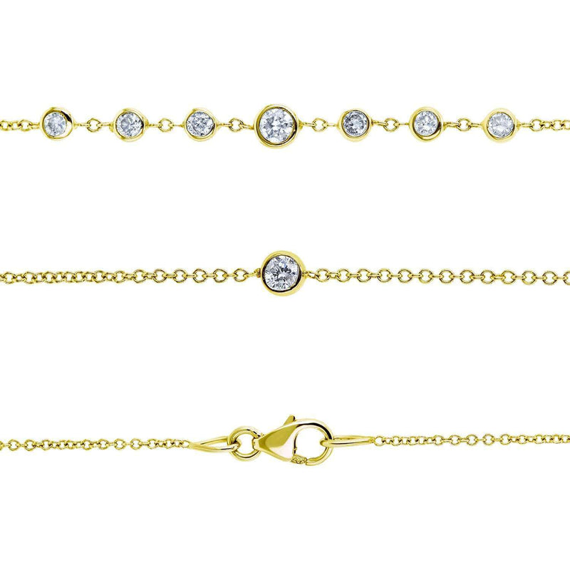 Kobelli Diamond 42 Inch Station Necklace 2 CTW 14k Yellow Gold 62384-Y