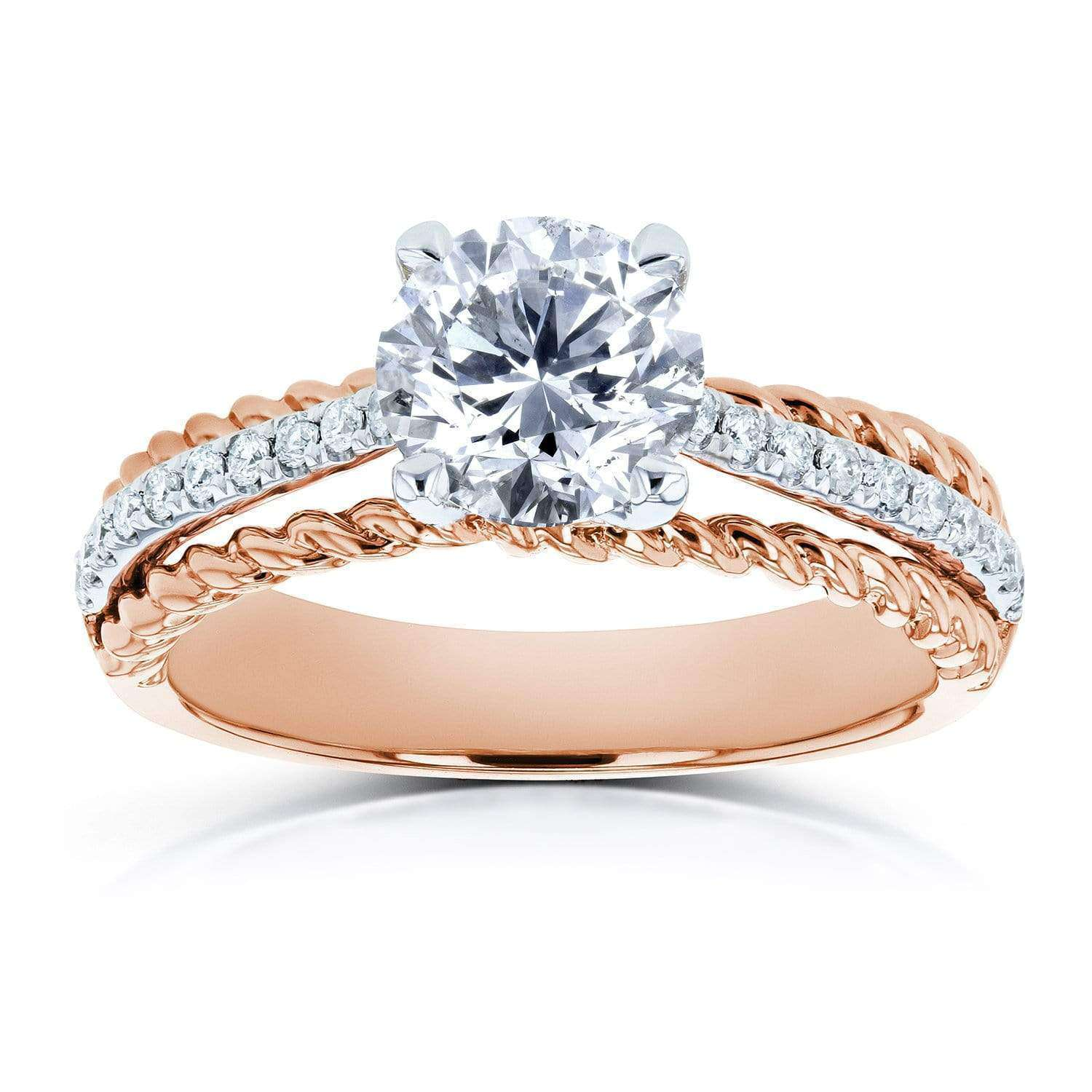 Coupons Diamond Unique Engagement Ring 1 1/6 TCW in 14k Two Tone Gold - 10