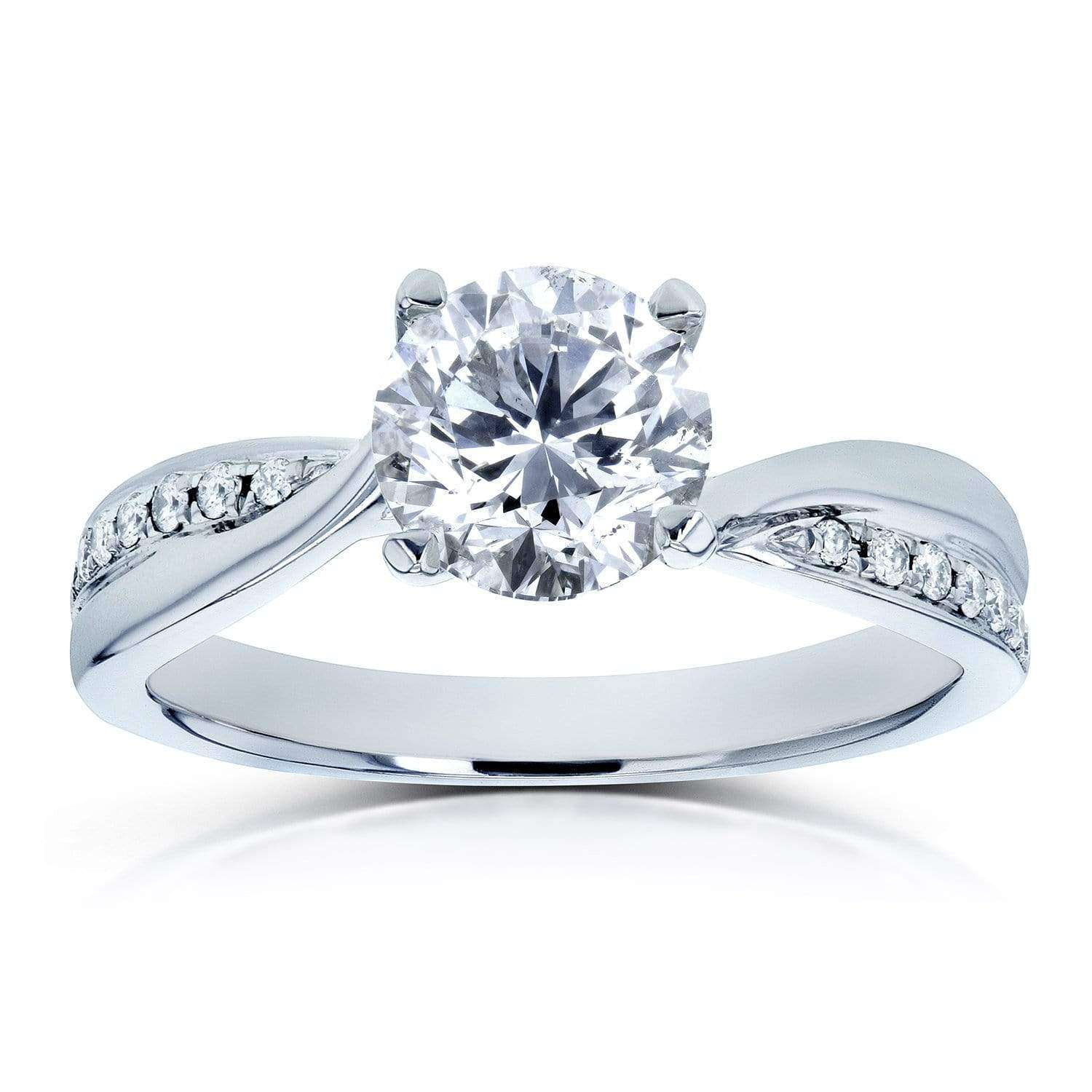 Compare Diamond Engagement Ring 1 CTW in 14k White Gold - 9.5