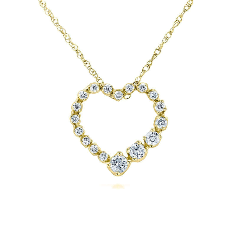 Kobelli Diamond Journey Heart Pendant 1/4 CTW 10k Yellow Gold 62437-Y