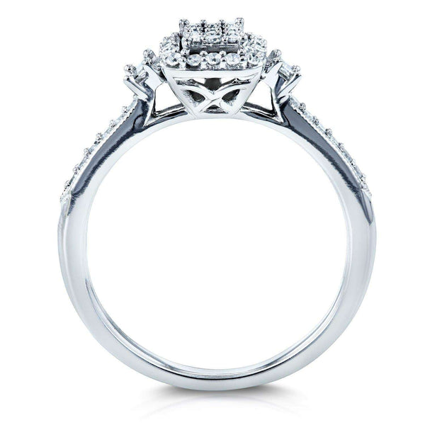 Kobelli Diamond Promise Ring 1/4 CTW 10k White Gold