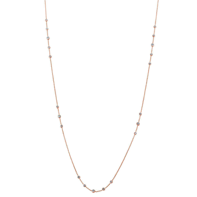 Kobelli Diamond 30 Inch Station Necklace 1 2/5 CTW 14k Rose Gold 62455-R