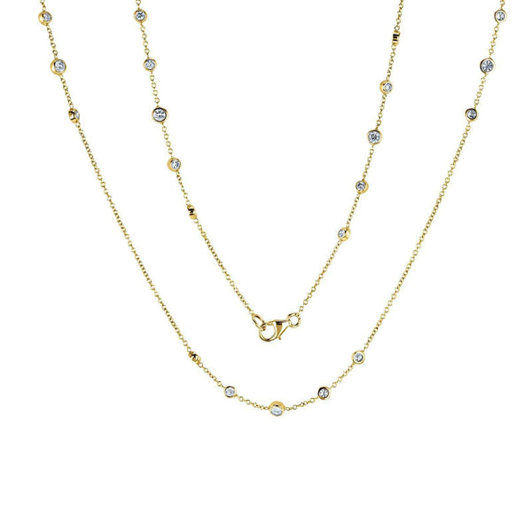 Kobelli Diamond 30 Inch Station Necklace 1 2/5 CTW 14k Yellow Gold 62455-Y