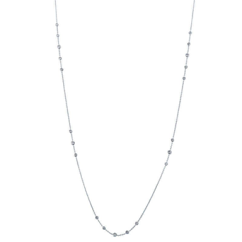 Kobelli Diamond 30 Inch Station Necklace 1 2/5 CTW 14k White Gold 62455
