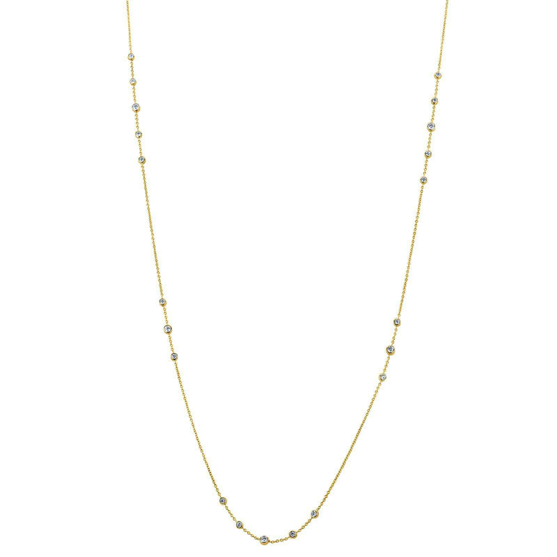 Kobelli Diamond 42 Inch Station Necklace 2 CTW 14k Yellow Gold 62456-Y