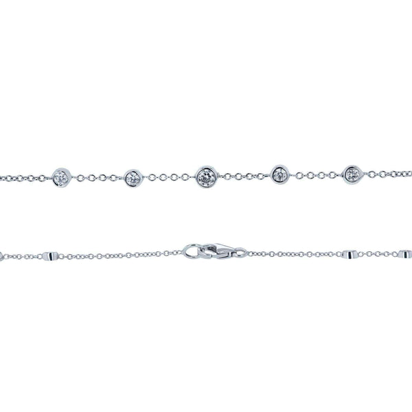 Kobelli Diamond 42 Inch Station Necklace 2 CTW 14k White Gold 62456