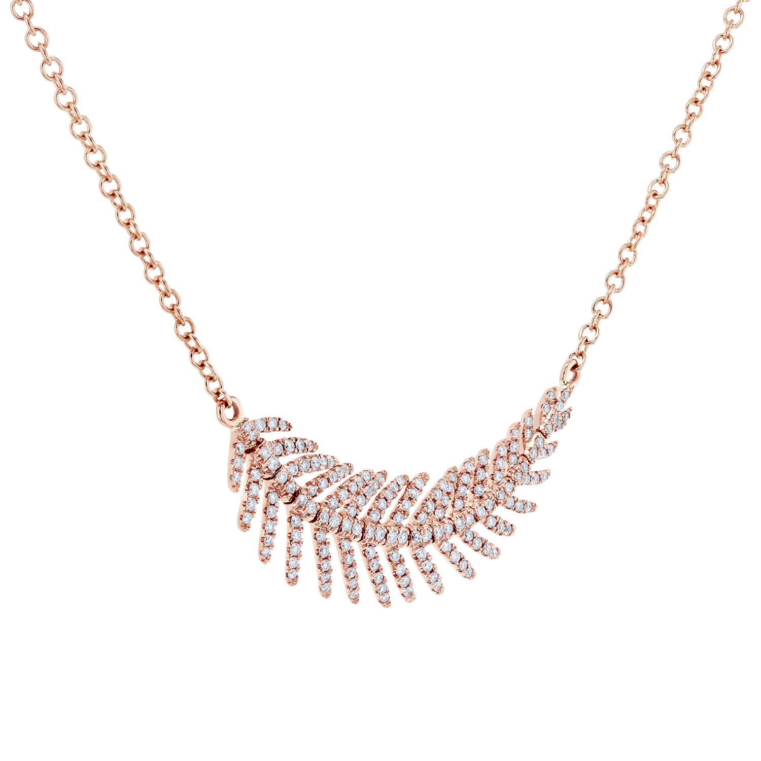 Compare Diamond Feather - rose-gold
