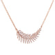 Diamond Feather Necklace 2/5 CTW 14k Rose Gold