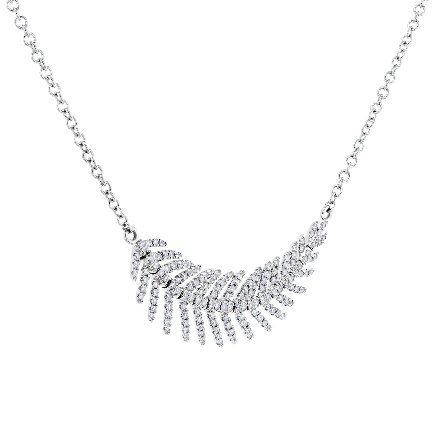Coupons Diamond Feather - white-gold