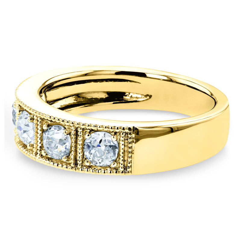 Vintage 5-Stone Diamond Ring 14k Gold