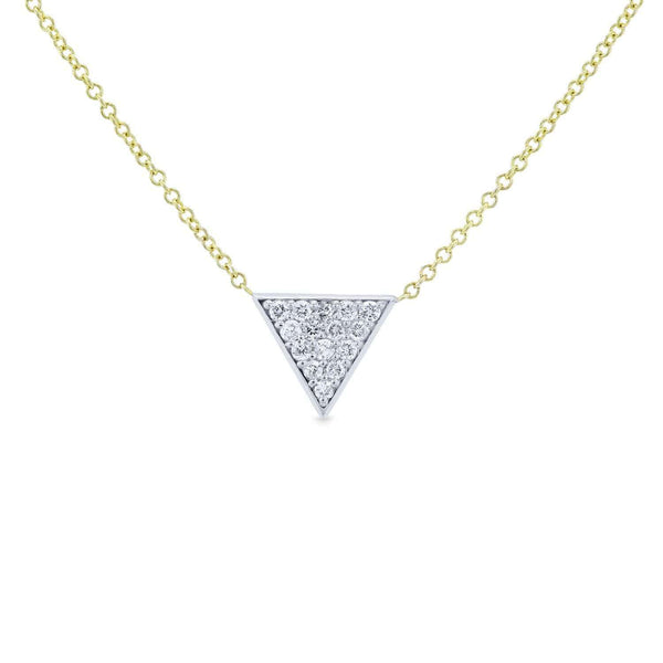 Kobelli White Gold Triangle Diamond Necklace Yellow Gold Chain 62481-WY