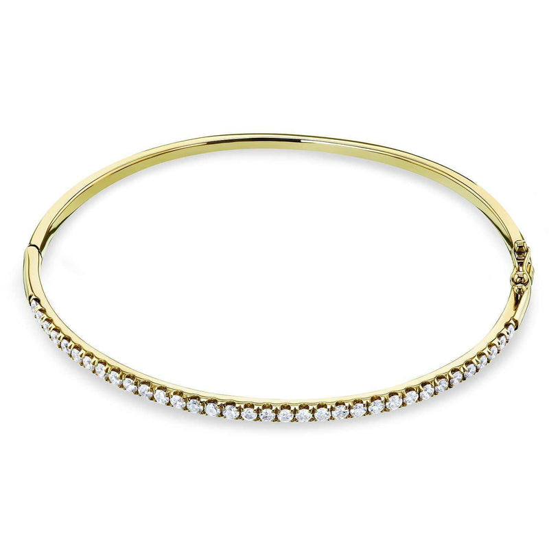 Kobelli Diamond Bangle Standard Medium 60mm x 50mm 1 CTW 10k Gold