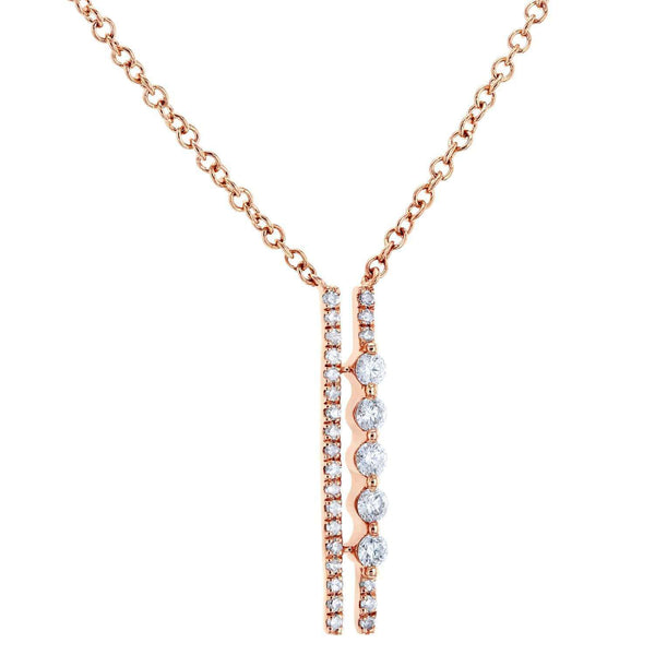 Kobelli Dual Bar Diamond Necklace