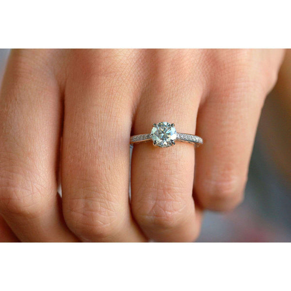Kobelli Round Natural Diamond Vintage Engagement Ring (1 1/3 CTW)