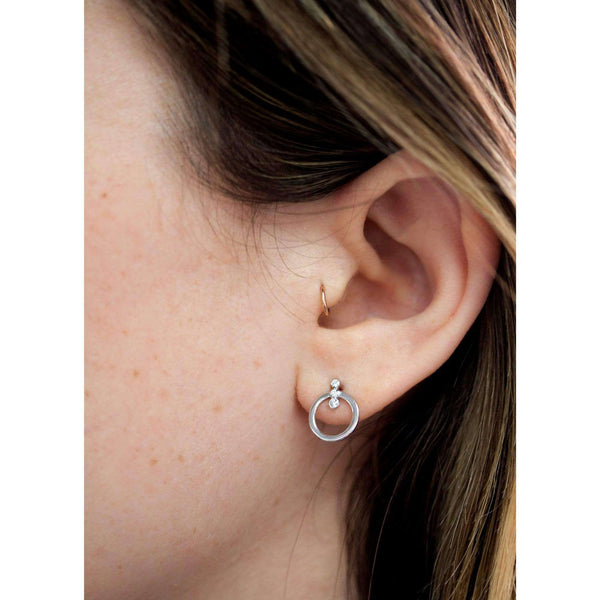 Kobelli 1/15ct Diamond Flat Circle Stud Earrings 62576-W