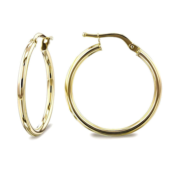 Kobelli 14k Gold Hinged Hoop Earrings (20mm x 2mm) 62585/Y