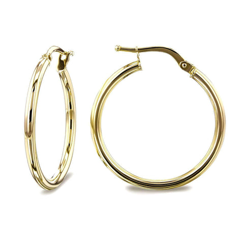 yellow gold hoop earrings for women