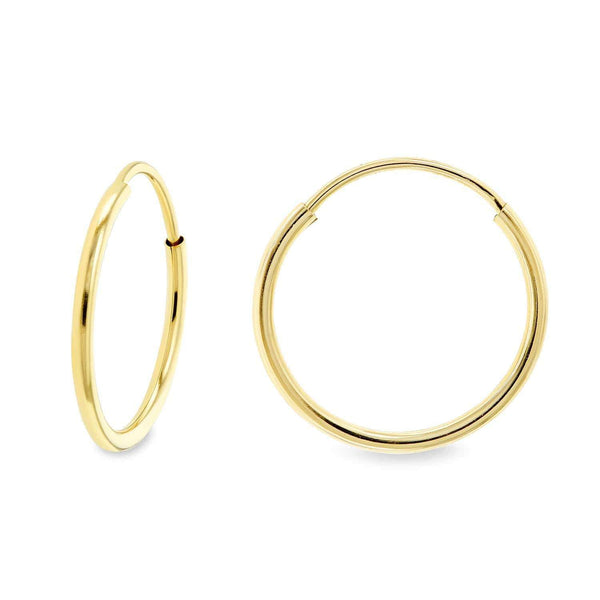 Kobelli 14k Yellow Gold Endless Hoop Earrings (12mm x 1.25mm) 62587-Y